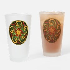 Celtic Pentacle Spiral Drinking Glass