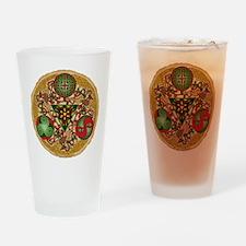 Celtic Reindeer Shield Pint Glass