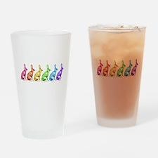 Rainbow Rabbits Drinking Glass