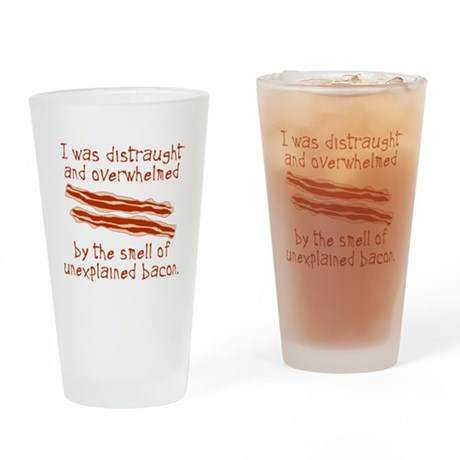 Unexplained Bacon Pint Glass