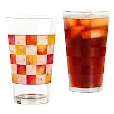 Checkerboard Watercolor Pint Glass