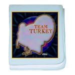 Team Turkey baby blanket