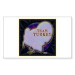 Team Turkey Sticker (Rectangle 10 pk)