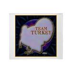 Team Turkey Throw Blanket