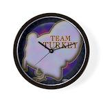 Team Turkey Wall Clock