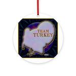 Team Turkey Ornament (Round)