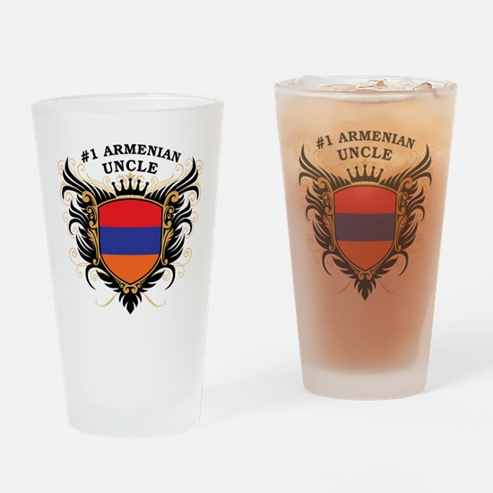 Number One Armenian Uncle Pint Glass