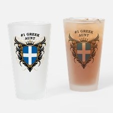 Number One Greek Aunt Pint Glass