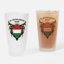 Number One Hungarian Dad Pint Glass