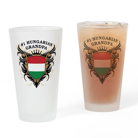 Number One Hungarian Grandpa Pint Glass