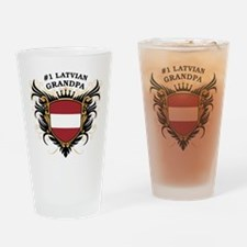 Number One Latvian Grandpa Pint Glass
