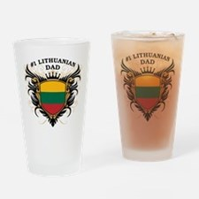 Number One Lithuanian Dad Pint Glass