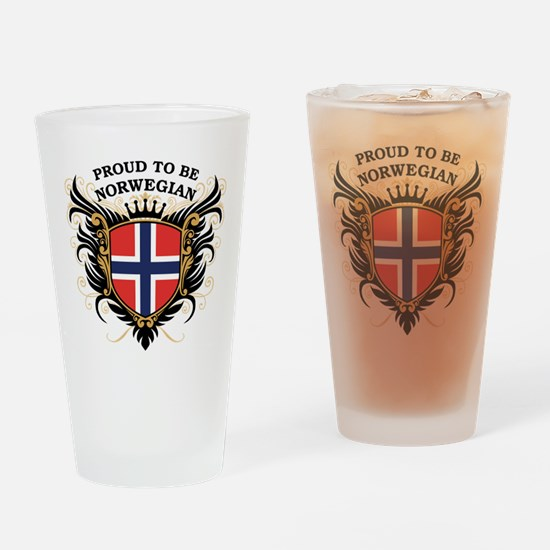 Proud to be Norwegian Pint Glass