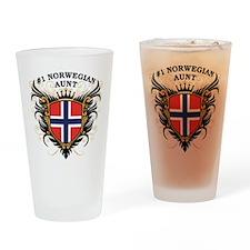 Number One Norwegian Aunt Pint Glass