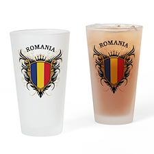Romania Drinking Glass