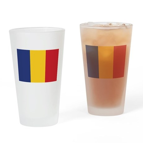 Flag of Romania Pint Glass