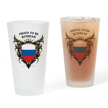 Proud to be Russian Pint Glass