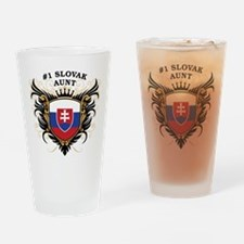 Number One Slovak Aunt Pint Glass