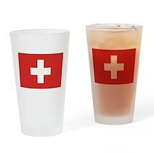 Flag of Switzerland Pint Glass