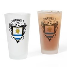 Uruguay Football Pint Glass