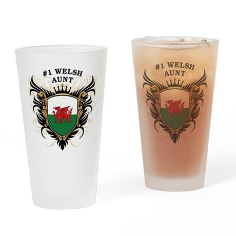 Number One Welsh Aunt Pint Glass