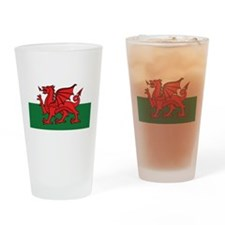 Flag of Wales Drinking Glass