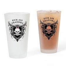 Kick Ass Grandma Drinking Glass