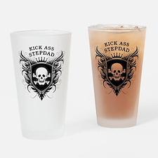 Kick Ass Stepdad Drinking Glass