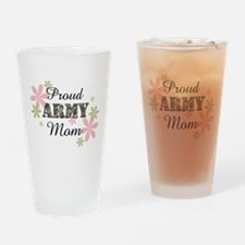 Proud Army Mom [fl2] Drinking Glass