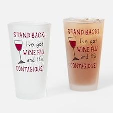 Wine Flu Drinking Glass