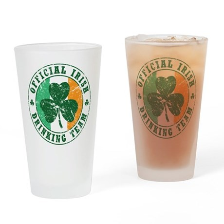 'Vintage' Irish Drinking Team Pint Glass