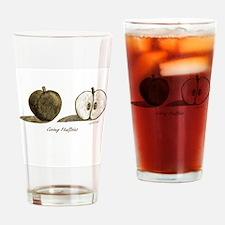 Going Halfsies Apple Drinking Glass