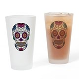 Sugar skull Pint Glasses
