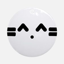 Kitty Cat Face Ornament (Round)