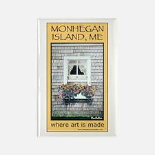 Monhegan Parsonage detail Rectangle Magnet