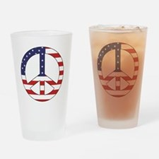 Peace Sign (American Flag) Pint Glass