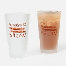Powered By Bacon Drinking Glass