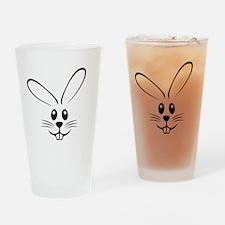 Rabbit Face Pint Glass