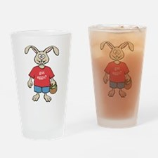 Funny Easter Rabbit Pint Glass