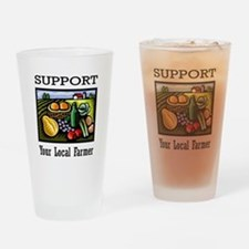 Support Your Local Farmer Drinking Glass