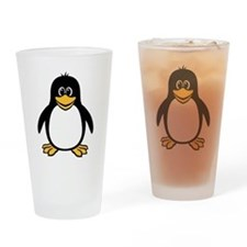 Funny Penguin Pint Glass