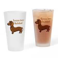 Everyone Loves A Dachshund Pint Glass