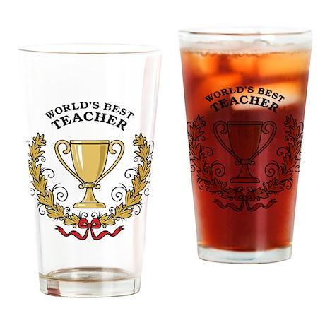 World's Best Teacher Pint Glass
