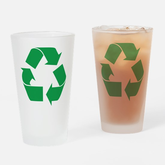 Green Recycle Pint Glass