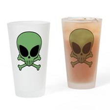Alien Skull Pint Glass