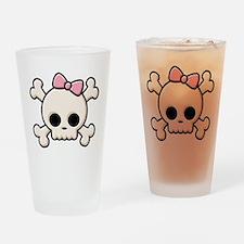 Cute Skull Girl Pint Glass