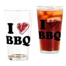 I [heart] BBQ Pint Glass