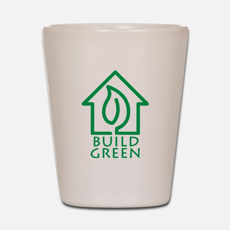 Build Green Shot Glass