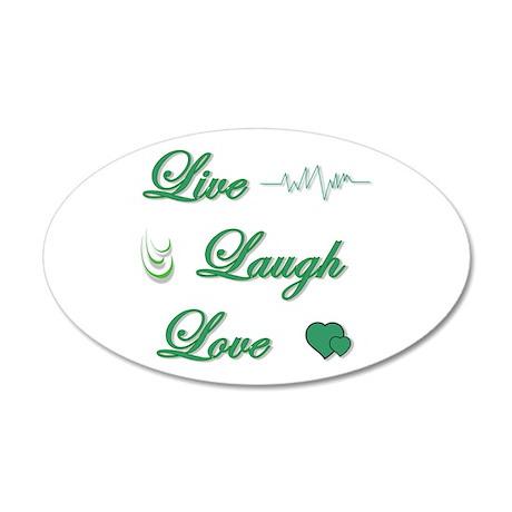 Live Laugh Love 22x14 Oval Wall Peel
