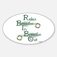 Relax Sticker (Oval)